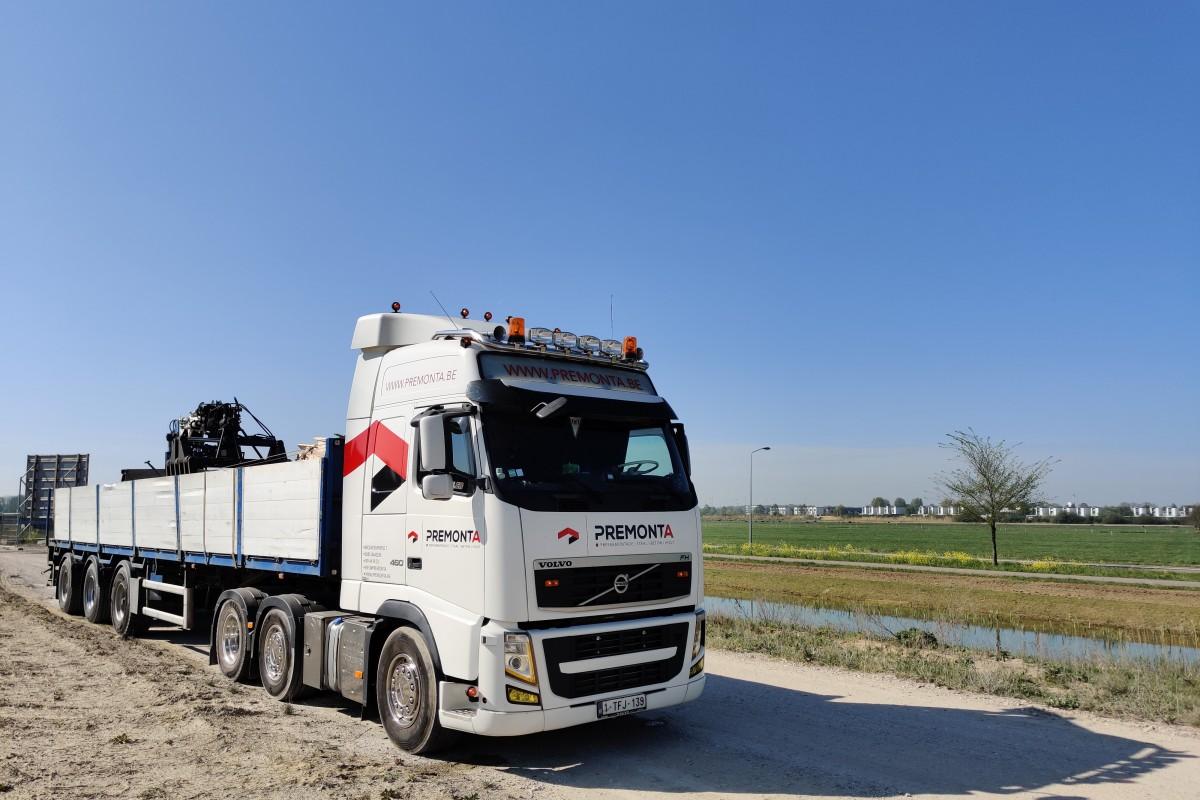 Transport met kraanwagen